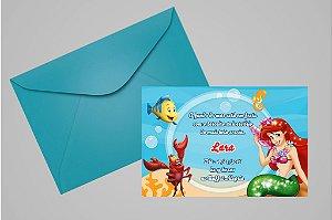 Convite 10x15 Pequena Sereia 002