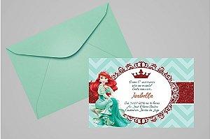 Convite 10x15 Pequena Sereia 005