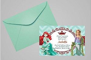 Convite 10x15 Pequena Sereia 005 com foto