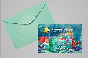 Convite 10x15 Pequena Sereia 006