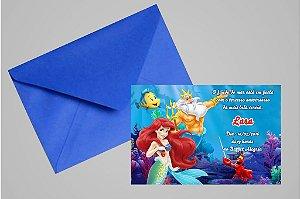 Convite 10x15 Pequena Sereia 008