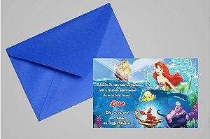 Convite 10x15 Pequena Sereia 011