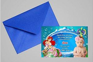 Convite 10x15 Pequena Sereia 015 com foto