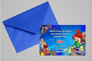 Convite 10x15 Pequena Sereia 018