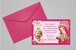 Convite 10x15 Moranguinho 096 com foto