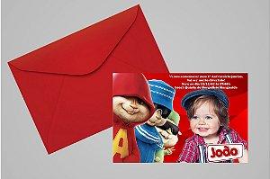 Convite 10x15 Alvin e os Esquilos 003 com foto