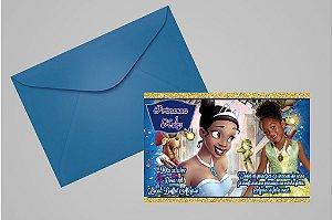 Convite 10x15 A Princesa e o Sapo 004 com foto