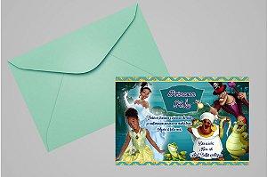 Convite 10x15 A Princesa e o Sapo 005 com foto