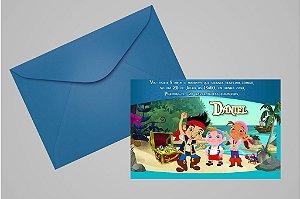 Convite 10x15 Jake e os Piratas Terra do Nunca 006
