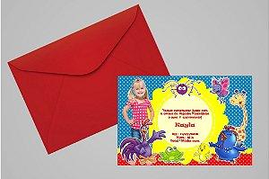 Convite 10x15 Galinha Pintadinha 005 com foto