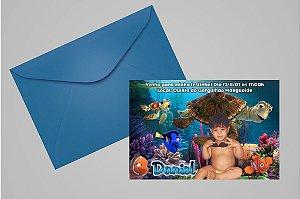 Convite 10x15 Procurando Nemo 001