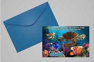 Convite 10x15 Procurando Nemo 001 com foto
