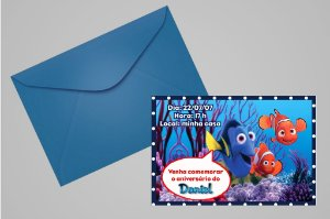 Convite 10x15 Procurando Nemo 002