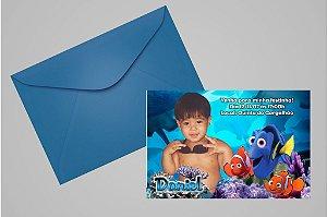 Convite 10x15 Procurando Nemo 004 com foto