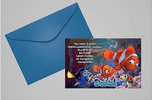 Convite 10x15 Procurando Nemo 006