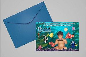 Convite 10x15 Procurando Nemo 009 com foto