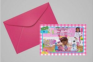 Convite 10x15 Doutora Brinquedos 003 com foto