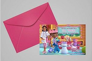 Convite 10x15 Doutora Brinquedos 006 com foto