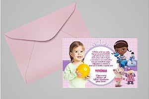 Convite 10x15 Doutora Brinquedos 007 com foto