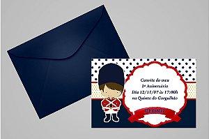 Convite 10x15 Soldadinho de Chumbo 001