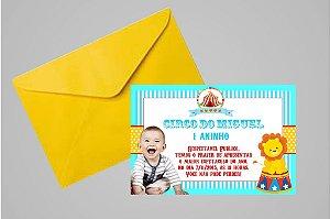Convite 10x15 Circo 001 com foto