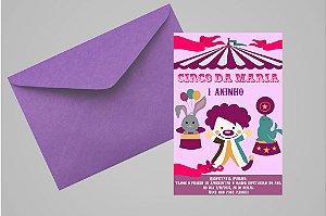 Convite 10x15 Circo 009