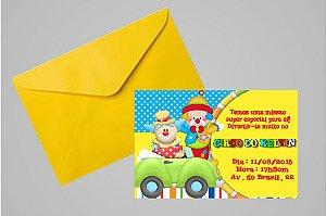 Convite 10x15 Circo 010