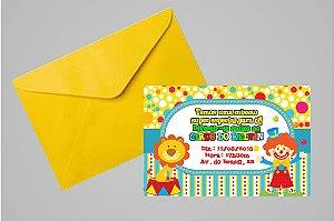 Convite 10x15 Circo 011