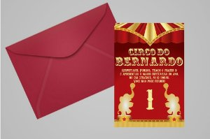 Convite 10x15 Circo 013