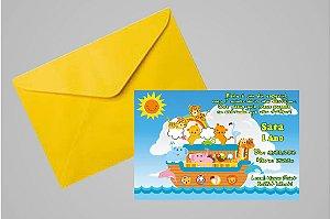 Convite 10x15 Arca de Noé 001