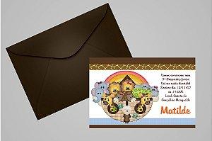 Convite 10x15 Arca de Noé 003