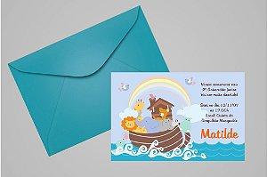 Convite 10x15 Arca de Noé 004