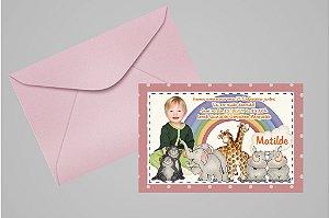 Convite 10x15 Arca de Noé 005 com foto