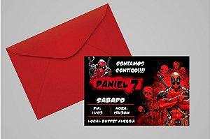 Convite 10x15 Deadpool 002