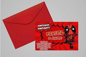 Convite 10x15 Deadpool 004