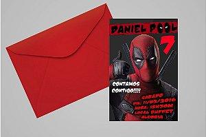 Convite 10x15 Deadpool 006