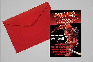 Convite 10x15 Deadpool 007