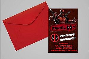 Convite 10x15 Deadpool 008