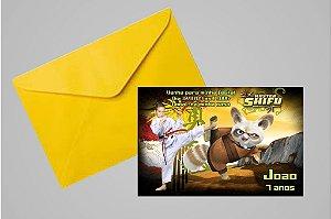 Convite 10x15 Kung Fu Panda 010 com foto