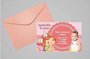 Convite 10x15 Baby Moranguinho 004 com foto