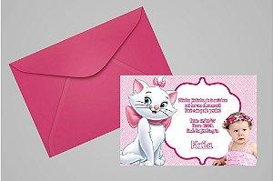 Convite 10x15 Gatinha Marie 002 com foto