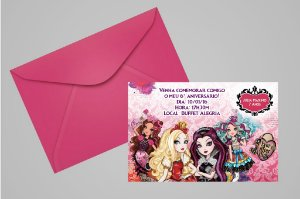 Convite 10x15 Ever After High 004