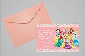 Convite 10x15 Princesas Disney 002