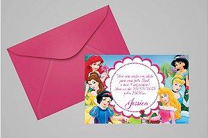 Convite 10x15 Princesas Disney 004