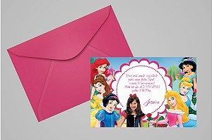 Convite 10x15 Princesas Disney 004 com foto