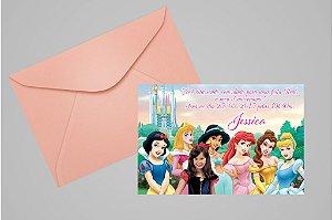 Convite 10x15 Princesas Disney 005 com foto
