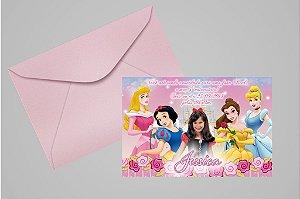 Convite 10x15 Princesas Disney 006 com foto