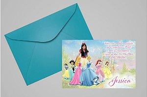 Convite 10x15 Princesas Disney 008 com foto