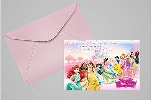 Convite 10x15 Princesas Disney 009