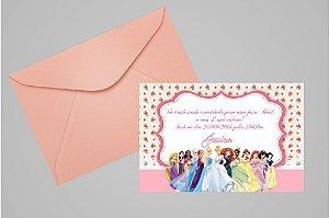 Convite 10x15 Princesas Disney 010